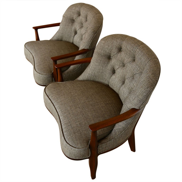 Pair of janus lounge chairs by edward wormley at 1stdibs - Edward wormley chairs ...