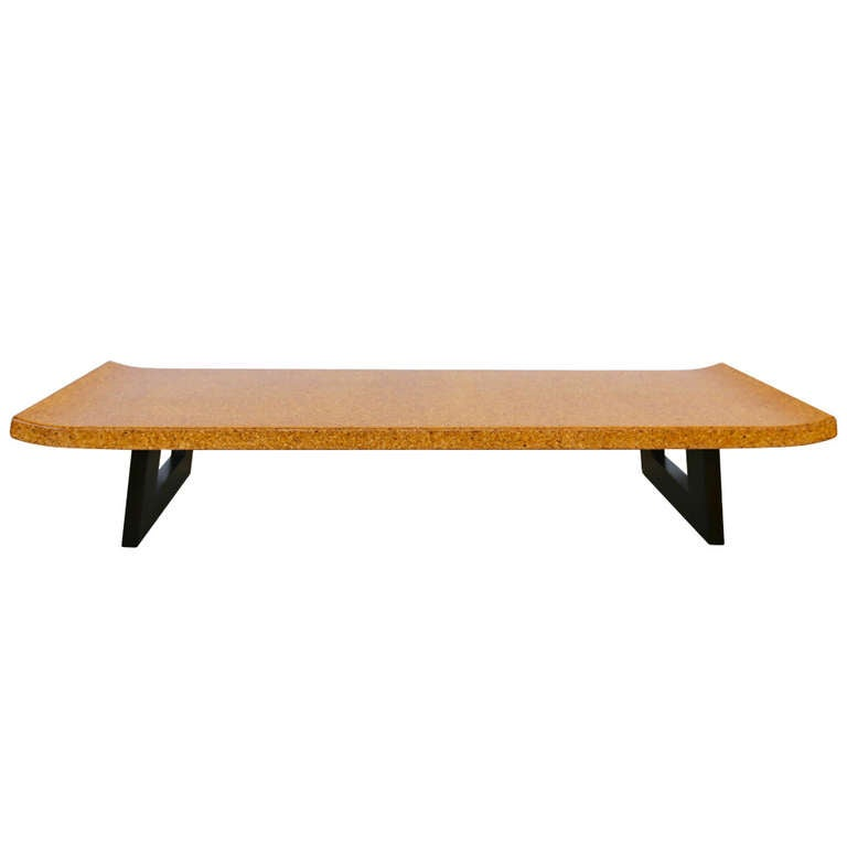 Cork Coffee Table Bench By Paul Frankl At 1stdibs
