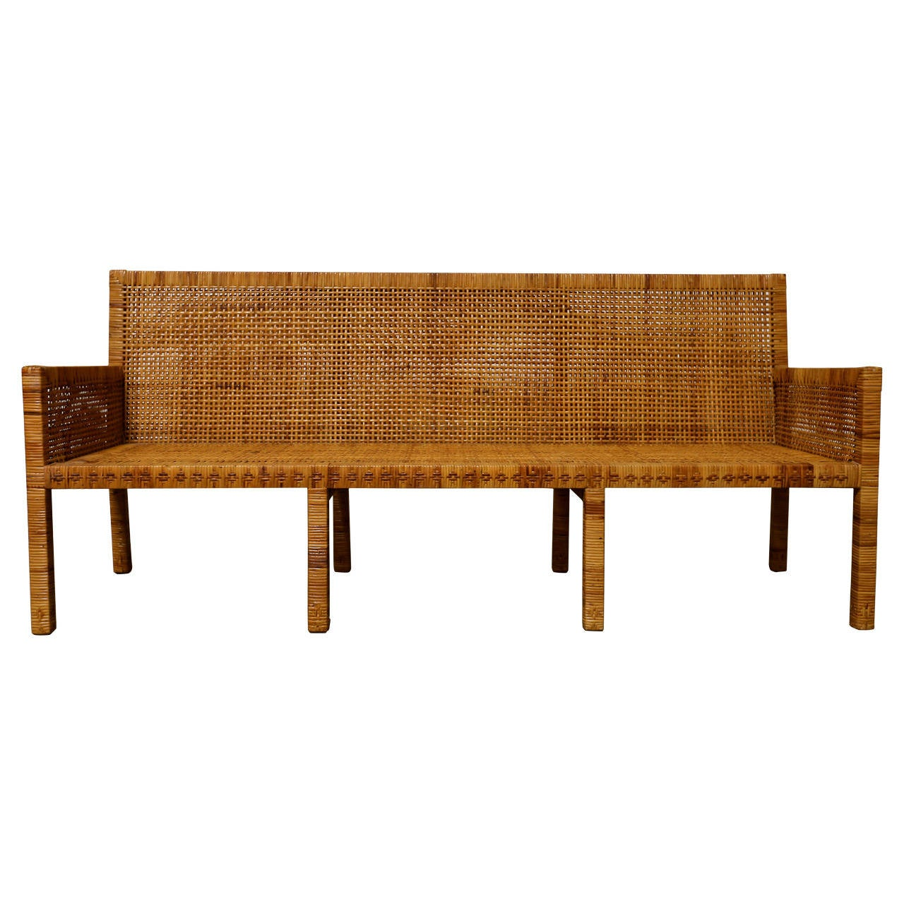 Cane Sofa By Danny Ho Fong At 1stdibs