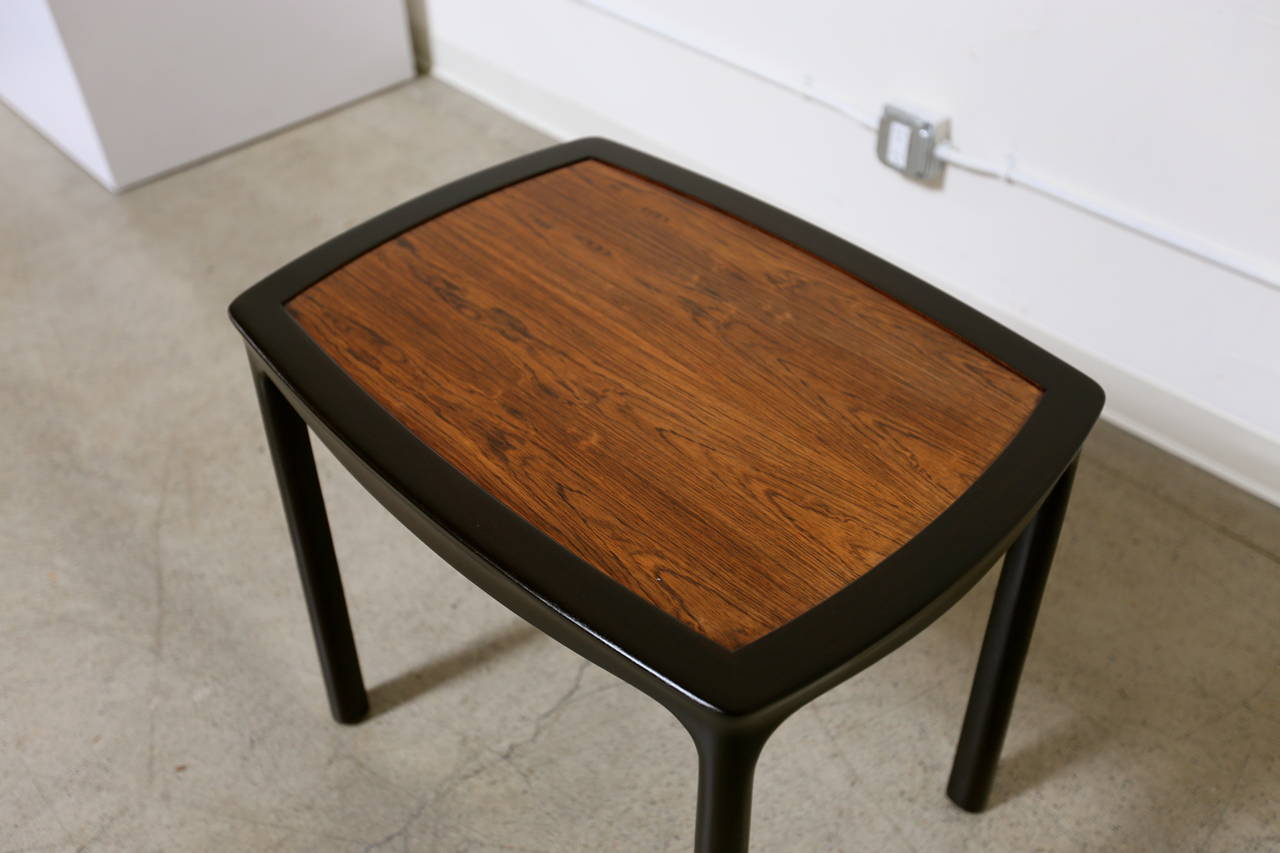 American Rosewood Side Table by Edward Wormley for Dunbar For Sale