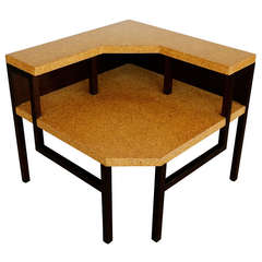 Cork Corner Table by Paul Frankl for Johnson Furniture Co.