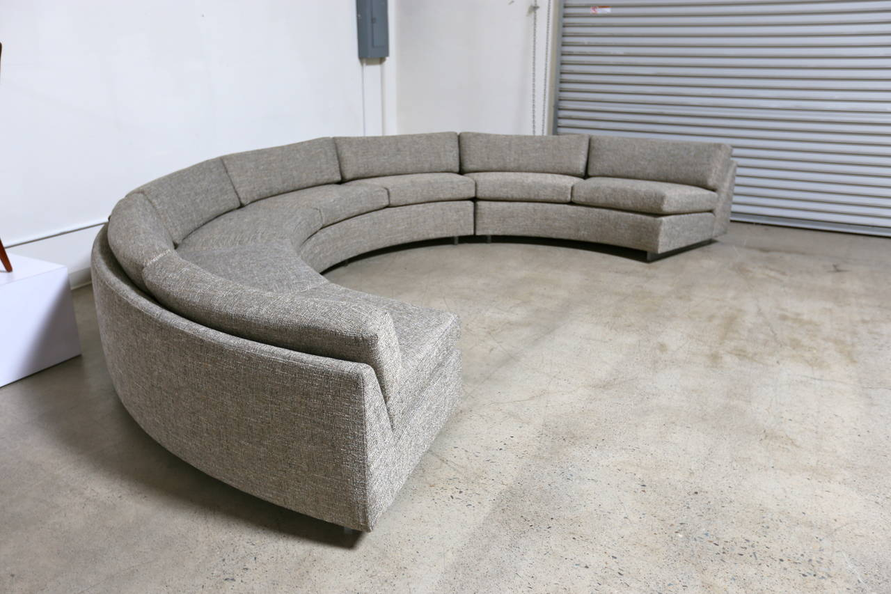 Circular Sectional Sofa By Milo Baughman At 1stdibs