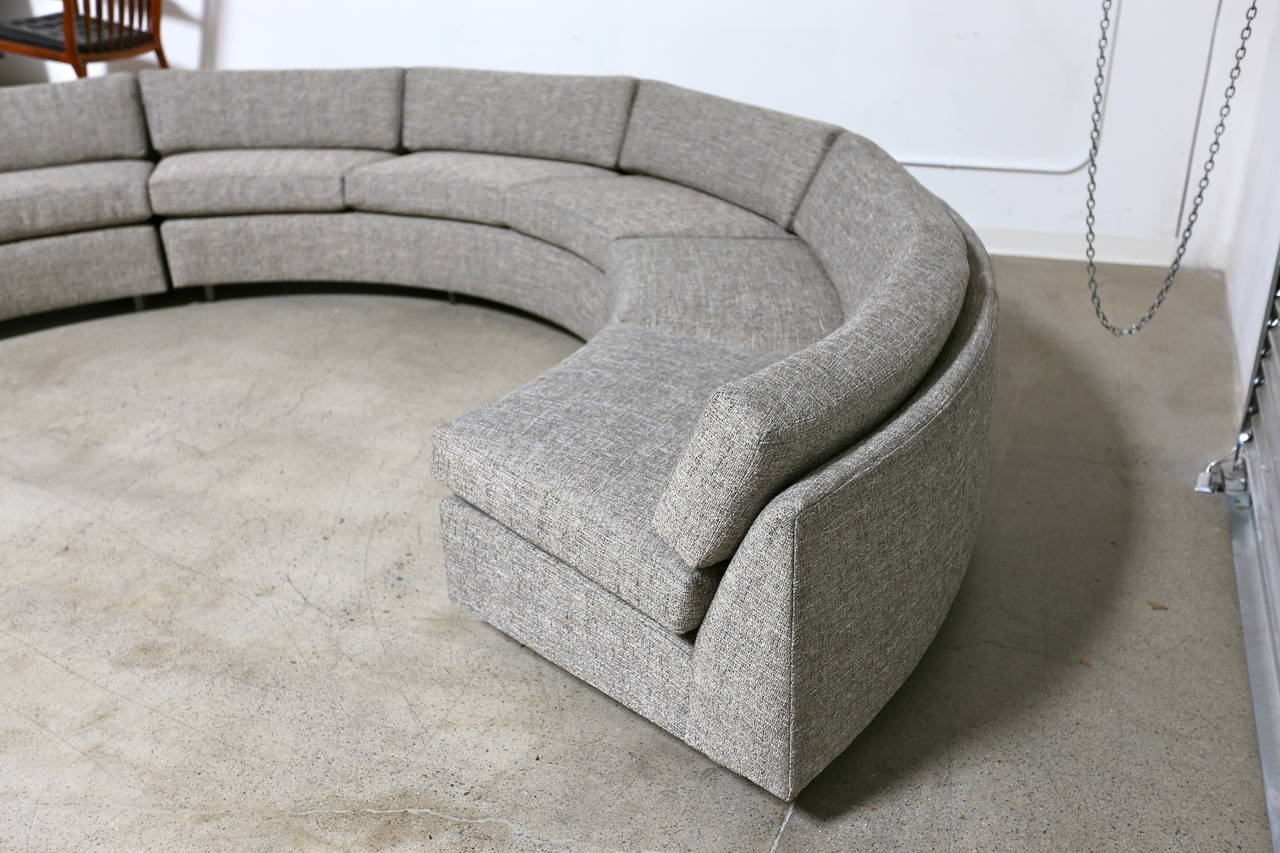 circular sectional sofa circular sectional sofa by milo baughman at 1stdibs 674