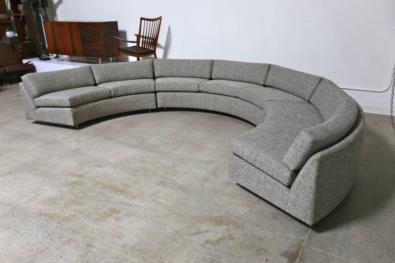 circular sectional sofa circular sectional sofa by milo baughman at 1stdibs 166