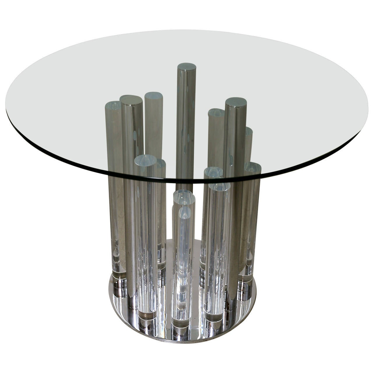 Loretta Young Lucite Dining Table by Charles Hollis Jones at 1stdibs