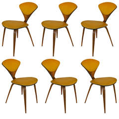 Set of Six Bentwood Dining Chairs by Norman Cherner
