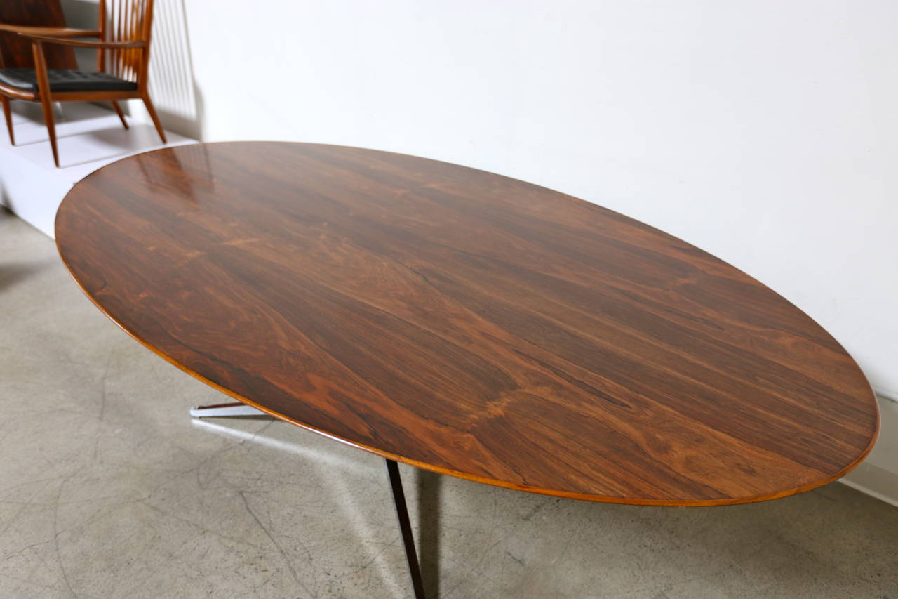 Rosewood Dining Table Or Desk By Florence Knoll At 1stdibs