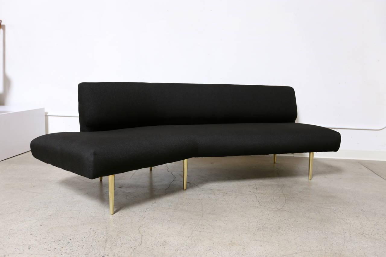model  channel back wing sofa by edward wormley at stdibs - model  channel back wing sofa by edward wormley