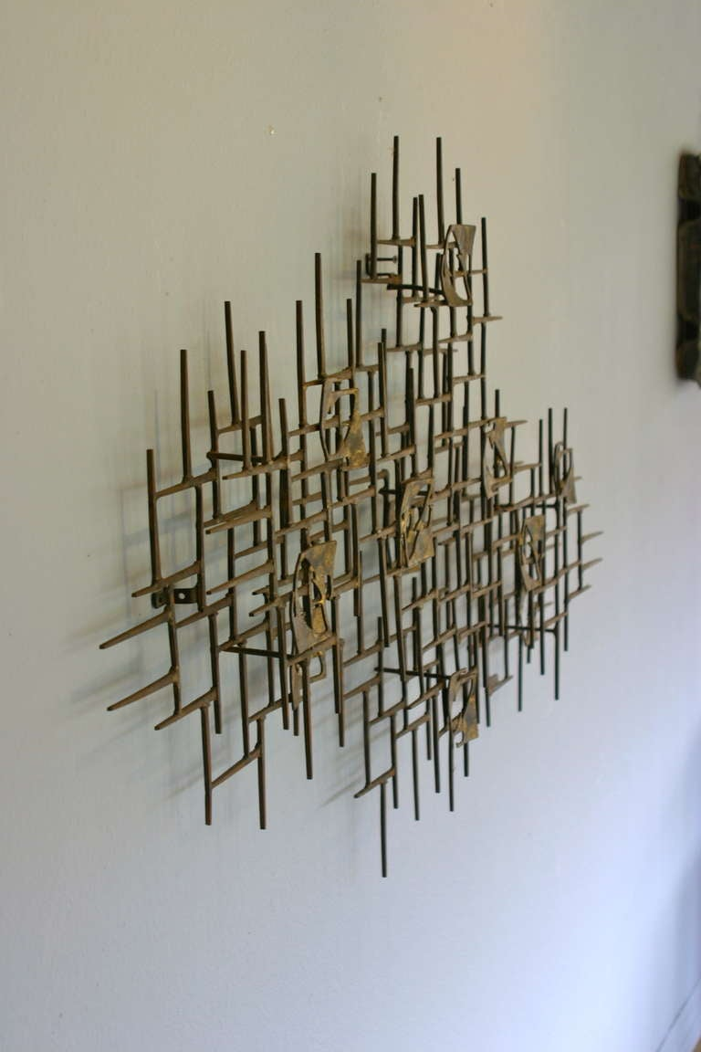 Large Nail Art Wall Sculpture By Mark Weinstein 1974 At 1stdibs