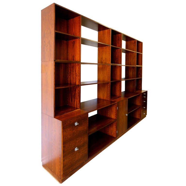 "Rosewood Modular ""Cresco"" Wall Unit System by Finn Juhl for France & Sons 1"