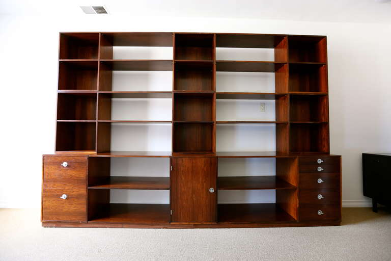 "Rosewood Modular ""Cresco"" Wall Unit System by Finn Juhl for France & Sons 3"