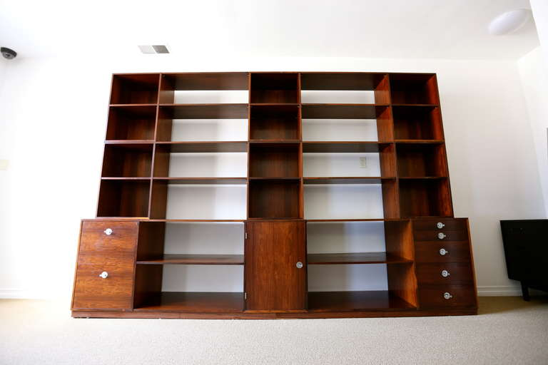 "Rosewood Modular ""Cresco"" Wall Unit System by Finn Juhl for France & Sons 8"