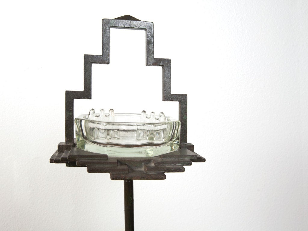 1930's art deco free standing ash tray by Seville Studios image 3
