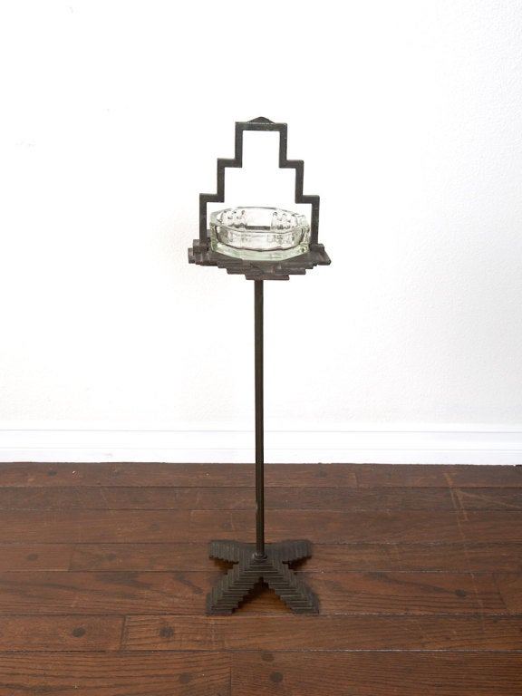 1930's art deco free standing ash tray by Seville Studios 2