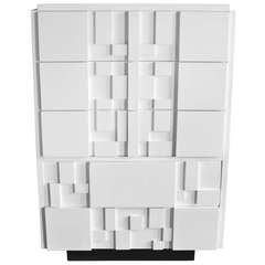 Mosaic Satin White Lacquered Chest by Lane