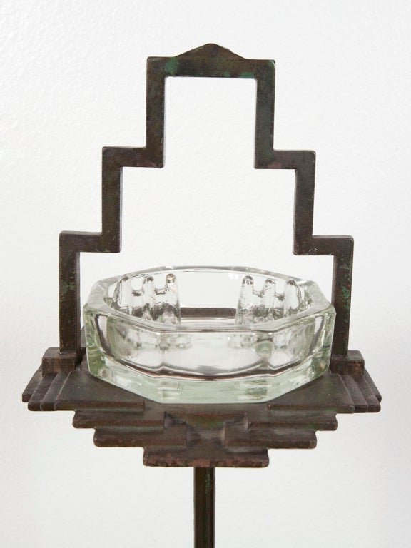 1930's art deco free standing ash tray by Seville Studios image 5