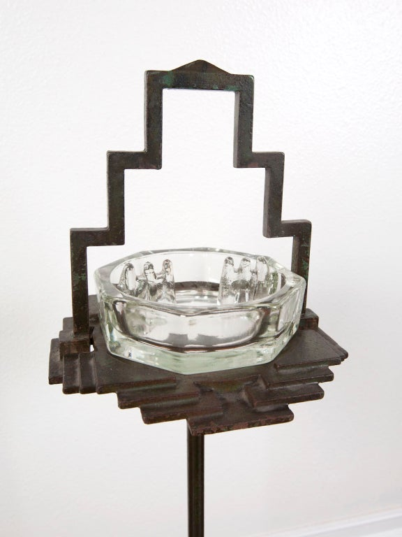 1930's art deco free standing ash tray by Seville Studios image 6
