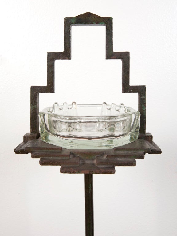 1930's art deco free standing ash tray by Seville Studios 7