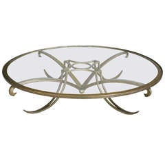 Arturo Pani Brass Cocktail Table
