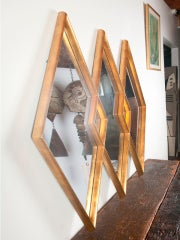 Gold gilt diamond mirror image 4
