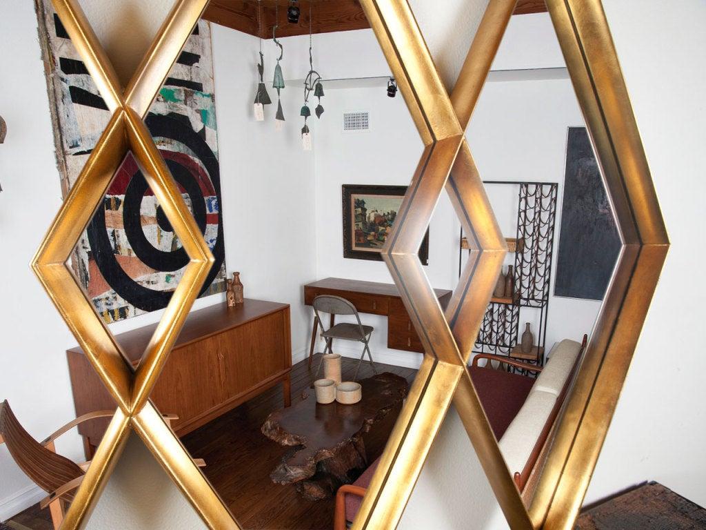 Gold gilt diamond mirror 6