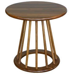 Solid Walnut Round Side Table by Stewart MacDougall