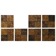 Carved Redwood Wall Panels by Evelyn Ackerman for Panelcarve