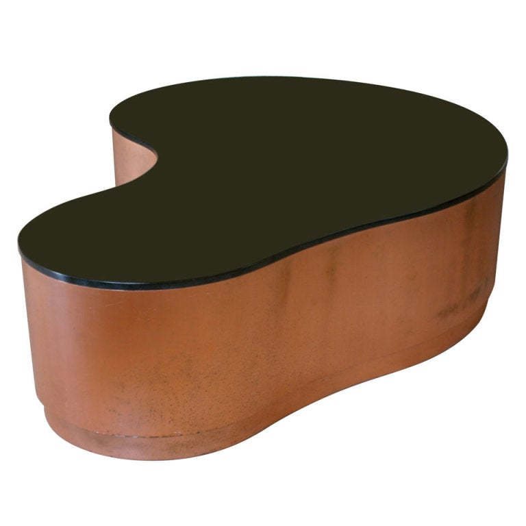 Huge Custom Biomorphic Copper And Granite Coffee Table At