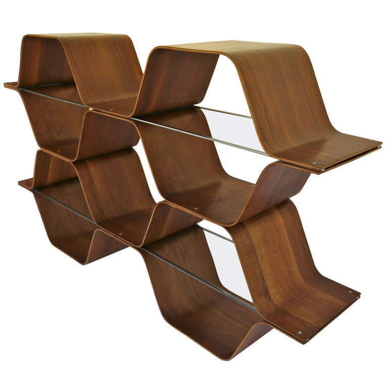 """Bentwood """"Honeycomb"""" Bookcase by Bill Curry"""