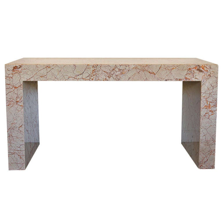 Marble Console Table : Custom Italian Marble Console Table at 1stdibs