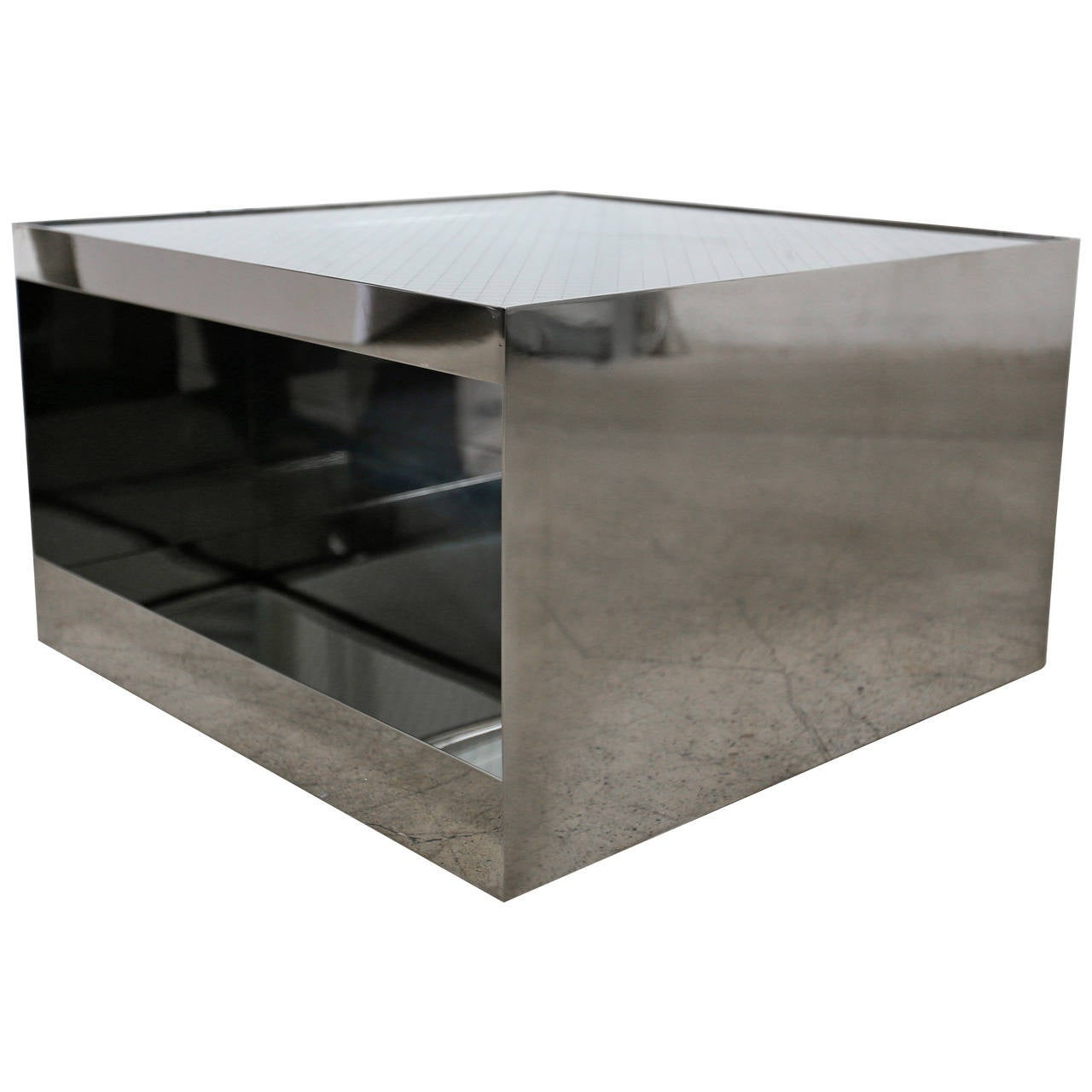 Stainless Steel Table by Joe D\u0027urso for Knoll For Sale at 1stdibs