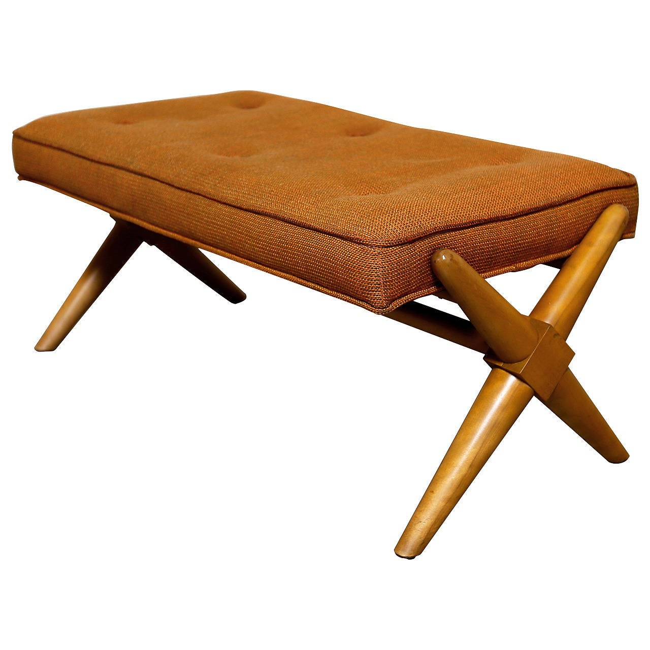 T H Robsjohn Gibbings X Base Trestle Bench For Widdicomb At 1stdibs