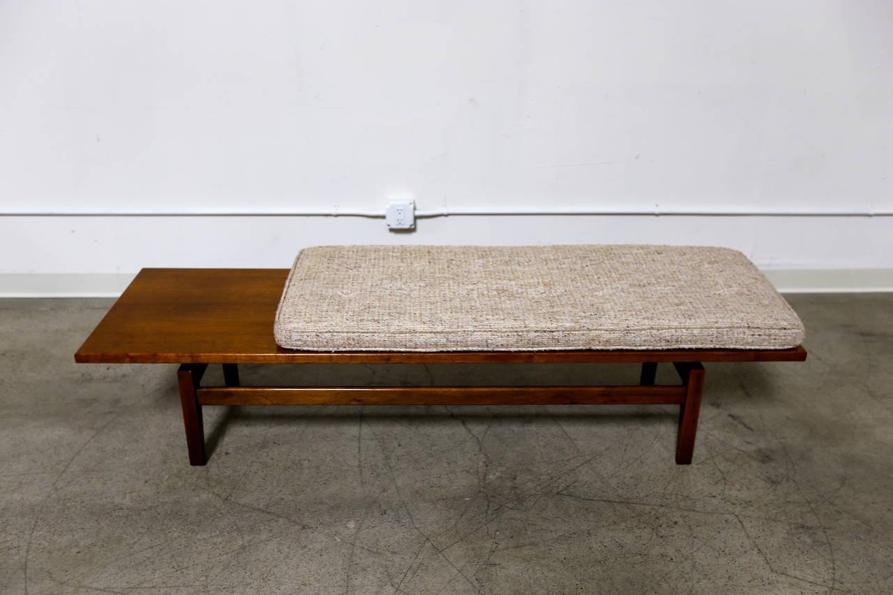 Jens risom floating bench for sale at 1stdibs - Walnut Bench By Jens Risom 2