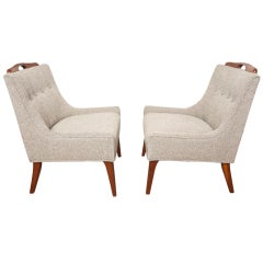 Pair of Petite Slipper Chairs by Glenn of California