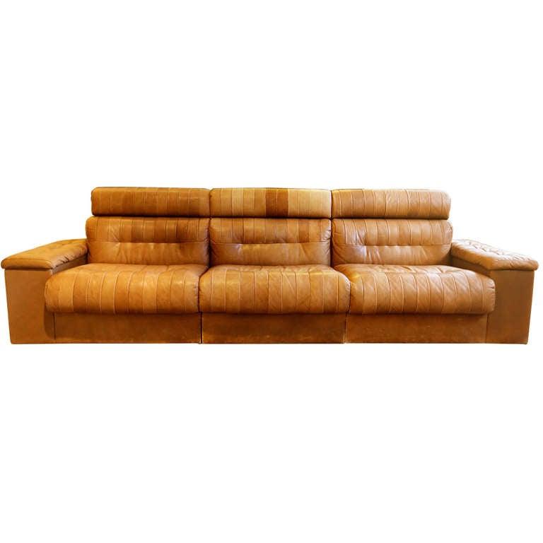 Modular Leather Sofa At 1stdibs