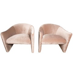 Pair of 1970's Lounge Chairs by Metropolitan chairs by METROPOLITAN
