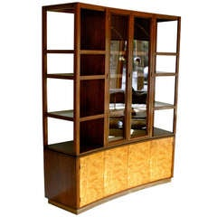 Curved Front China / Display Cabinet by Edward Wormley for Dunbar