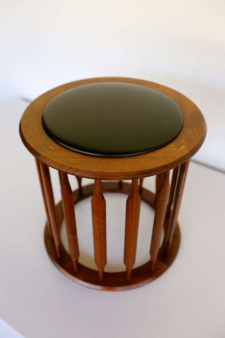 Walnut Stool By Kipp Stewart At 1stdibs