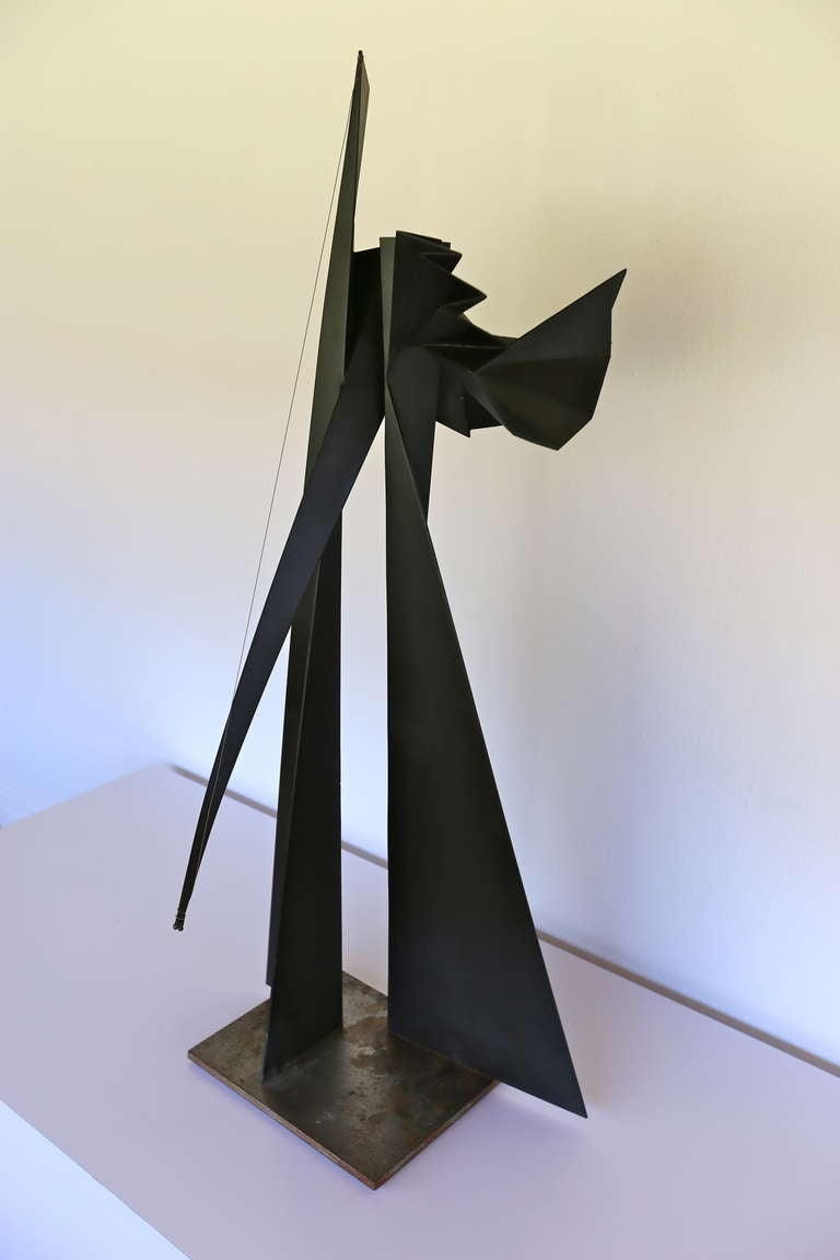 steel origami modernist sculpture at 1stdibs. Black Bedroom Furniture Sets. Home Design Ideas