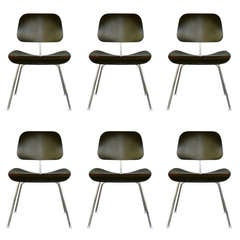 Set of six DCM chairs by CHARLES EAMES for Herman Miller
