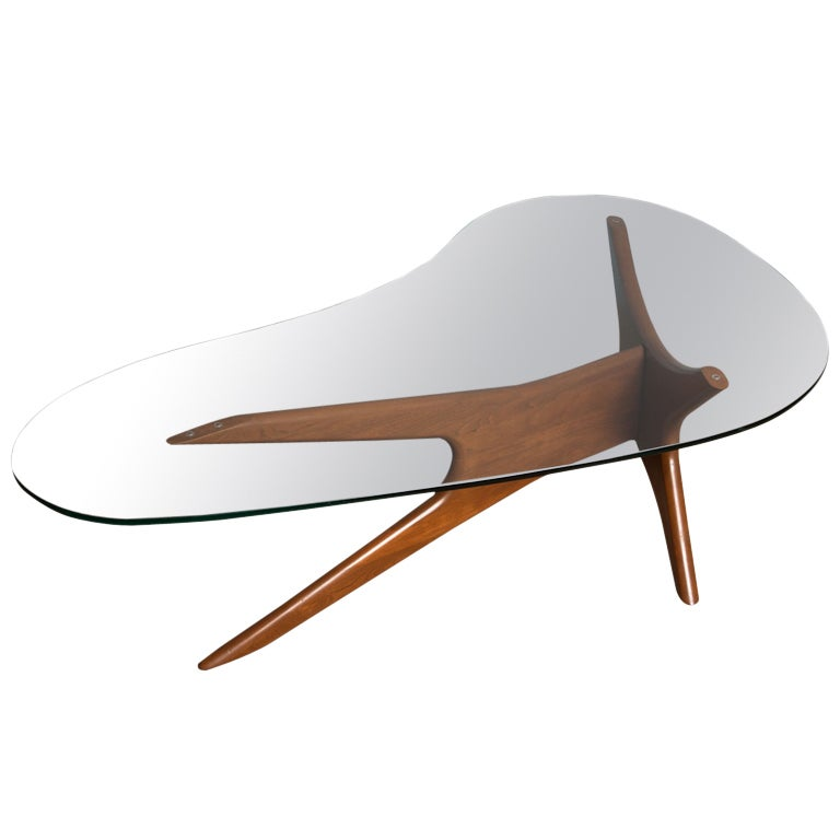 Sculptural Coffee Table By Adrian Pearsall At 1stdibs