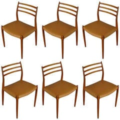 Set of Six Dining Chairs by Niels Moller for J.L. Moller