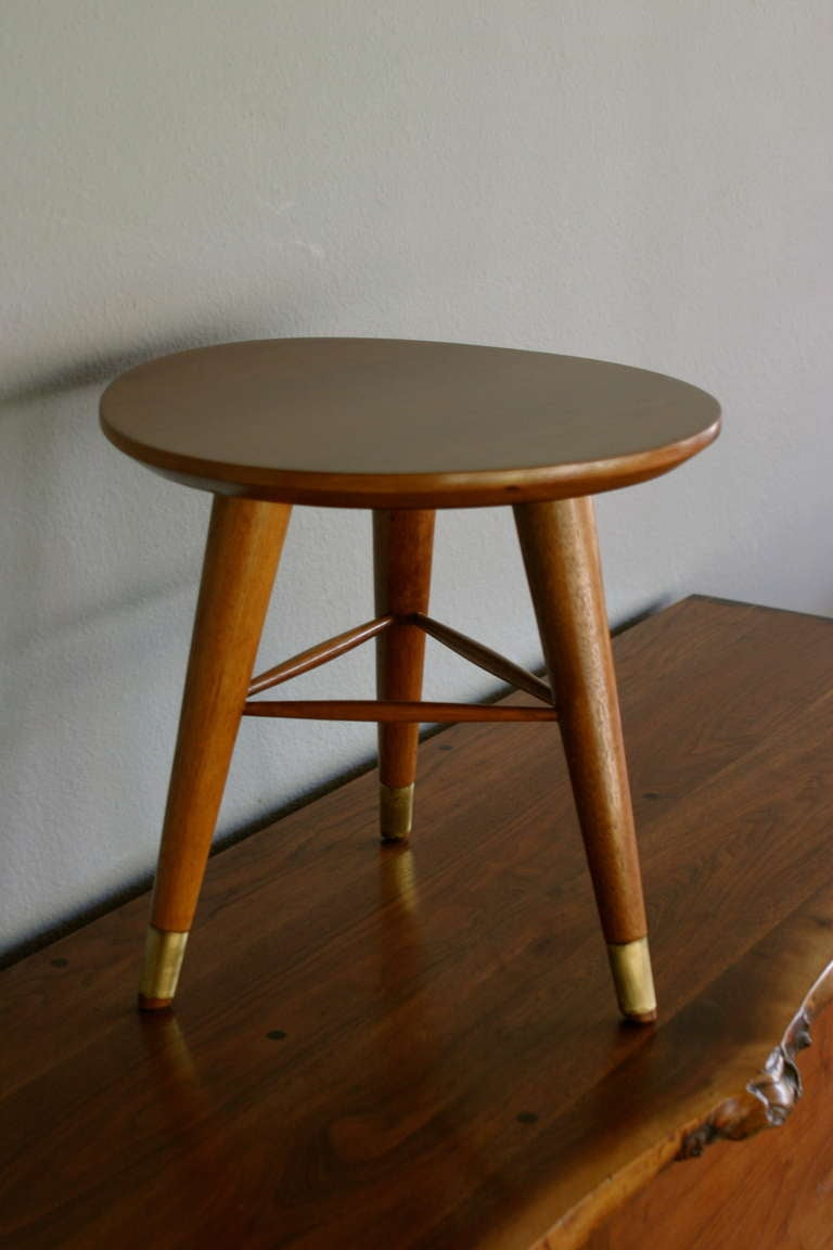 Tripod Stool By Drexel At 1stdibs