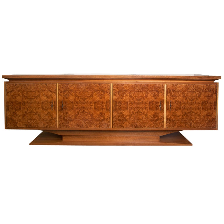 French Burl Wood Credenza At 1stdibs