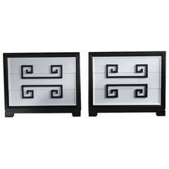 Pair of Greek Key Chests by Kittinger