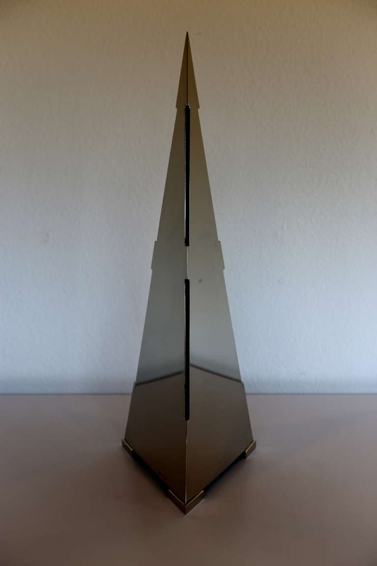 Signed Pyramid Lamp By Gabriela Crespi For Sale At 1stdibs