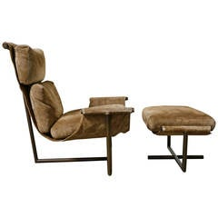 Lounge Chair and Ottoman by Jules Heumann