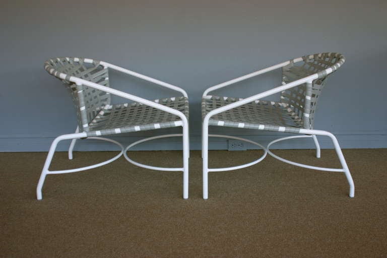Nice Pair Of Outdoor Vintage Kantan Lounge Chairs By Tadao Inouye For Brown  Jordan 2