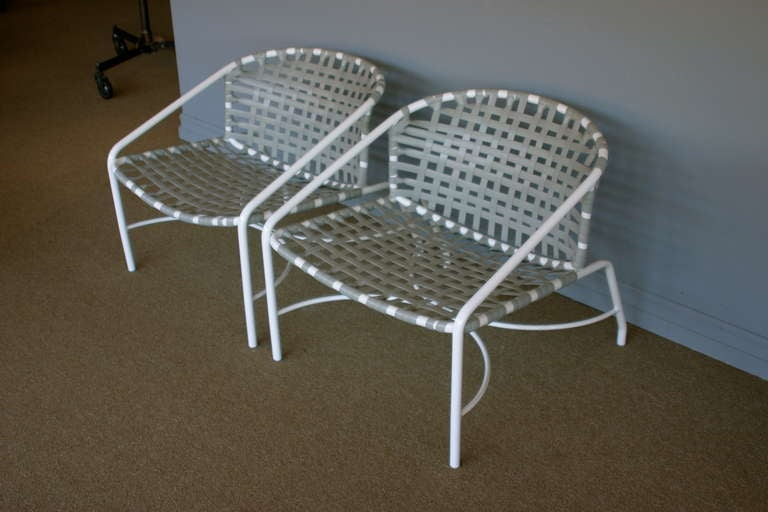 Pair of outdoor vintage Kantan lounge chairs by Tadao