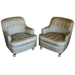 Pair of Petite Lounge Chairs by Edward Wormley